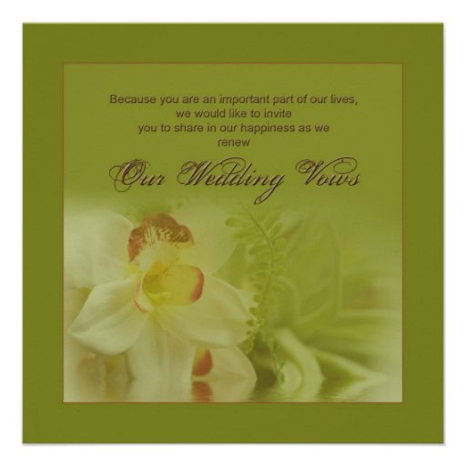 Renewing Wedding Vows - Invitations - Orchids Custom Invite