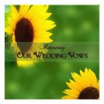 RENEWING WEDDING VOWS -  INVITATIONS -SUNFLOWERS
