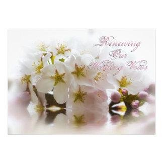 Renewing Wedding Vows - InvitationsCherry Blossoms Announcement