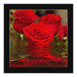 Renewing Wedding Vows - Red Romantic Roses/invite Invites