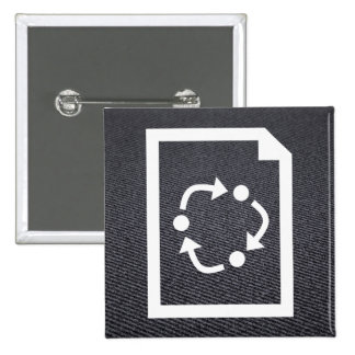 Renews Pictogram 15 Cm Square Badge