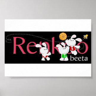 Renkoo Bunnies Logo Poster