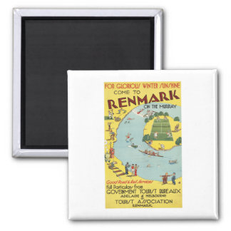 Renmark Australia Many thing to do Square Magnet
