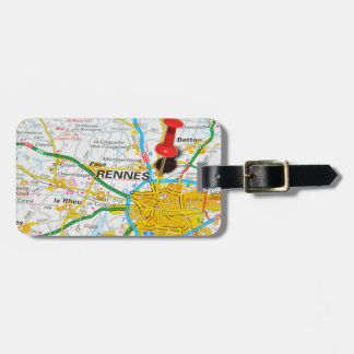 Rennes, France Luggage Tag
