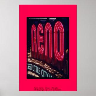 Reno Arch, Reno, Nevada Poster