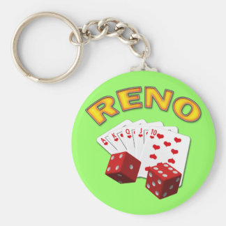 RENO BASIC ROUND BUTTON KEY RING