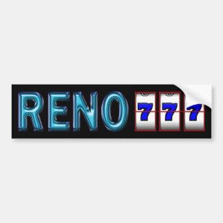 RENO BUMPER STICKER