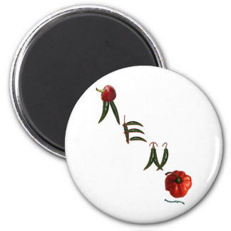 Reno Chili Peppers 6 Cm Round Magnet