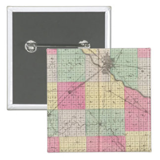 Reno Coand Plevna, Kent, Elmer, Kansas 15 Cm Square Badge