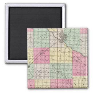 Reno Coand Plevna, Kent, Elmer, Kansas Square Magnet