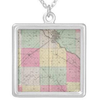 Reno Coand Plevna, Kent, Elmer, Kansas Square Pendant Necklace