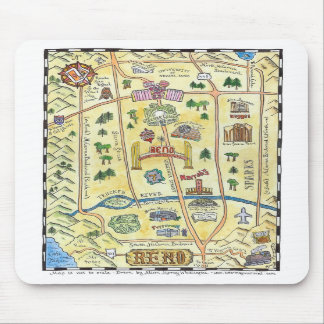 Reno Map Mouse Pads