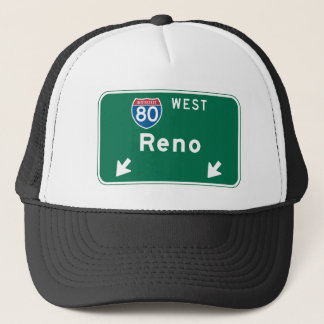 Reno, NV Road Sign Trucker Hat