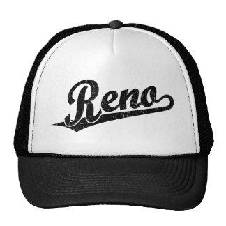 Reno script logo in black distressed cap