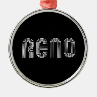 Reno Sign White Christmas Ornament
