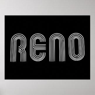 Reno Sign White Poster