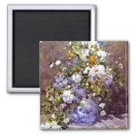 Renoir: Blue Vase Fridge Magnet