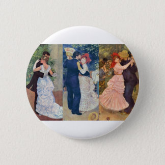 Renoir - Dance in the City, Country, and Bougival 6 Cm Round Badge