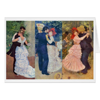 Renoir - Dance in the City, Country, and Bougival Cards