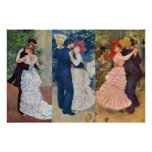 Renoir - Dance in the City, Country, and Bougival Poster