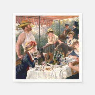 Renoir French Luncheon at the Boating Party Paper Napkin