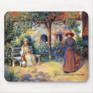 Renoir: Garden Scene in Brittany Mouse Mat