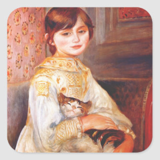 Renoir Girl With Cat Stickers