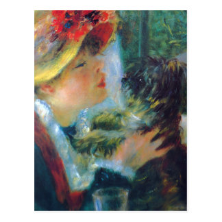 Renoir Girl with Dog Postcard