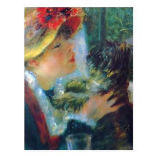 Renoir Girl with Dog Postcard