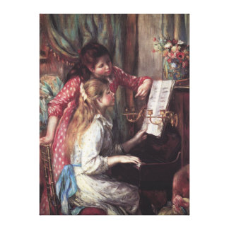 Renoir: Girls at the Piano Gallery Wrapped Canvas