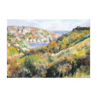 Renoir Hills around Bay of Moulin Huet Guernsey Canvas Print