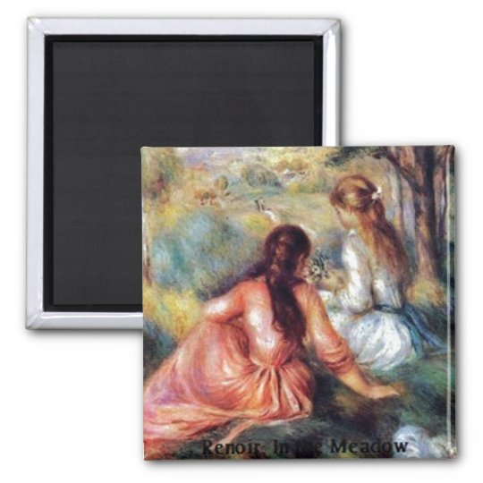 Renoir: In the Meadow Square Magnet