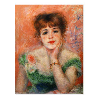 Renoir Jean Samary in a Low Necked Dress Postcard