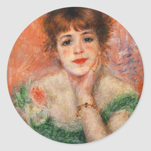 Renoir Jean Samary in a Low Necked Dress Stickers