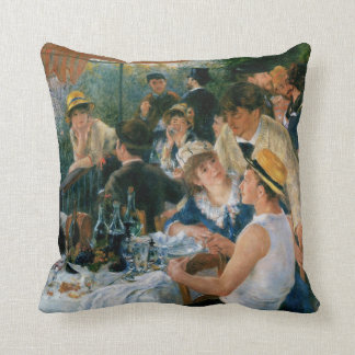 Renoir Luncheon of the Boating Party Fine Art Throw Pillow