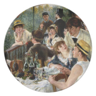 Renoir: Luncheon of the Boating Party Plate