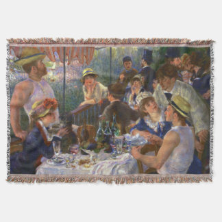 Renoir Luncheon of the Boating Party Throw Blanket