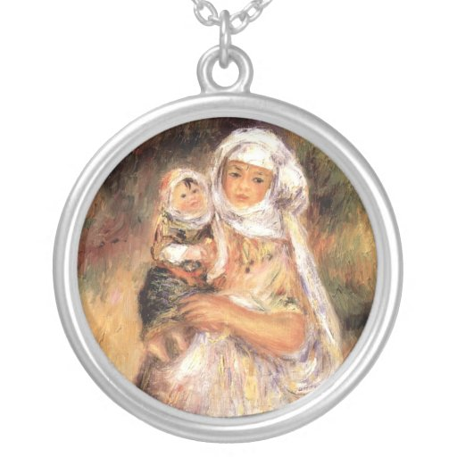 Renoir Mother and Child Round Pendant Necklace