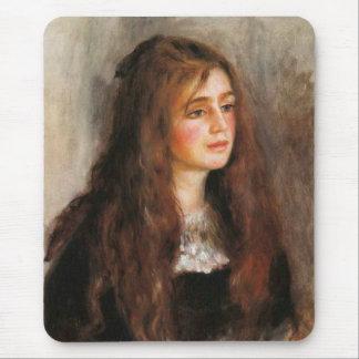 """Renoir """"Portrait of Julie Manet"""" Mouse Pad"""