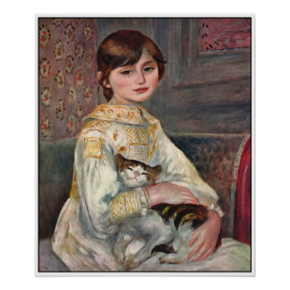 Renoir Poster Print: Mlle. Julie Manet with Cat