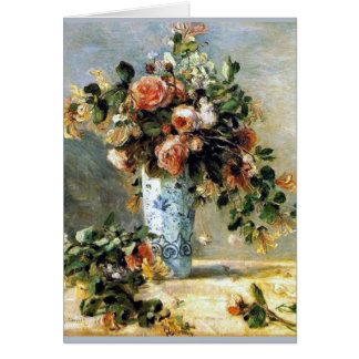 Renoir Roses and Jasmine Bouquet Card