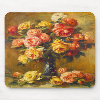Renoir Roses in a Vase Mouse Pad