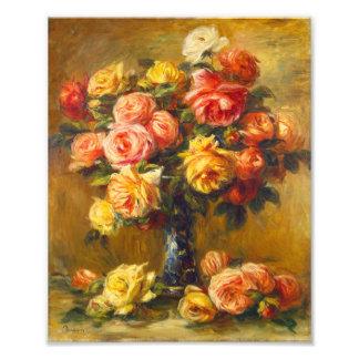 Renoir Roses in a Vase Print
