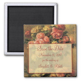 Renoir Roses Wedding Save the Date Magnet