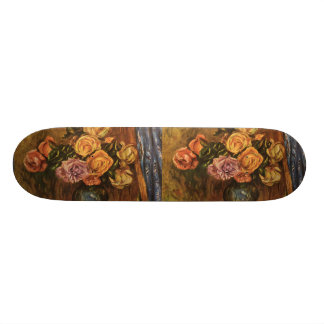 Renoir s Roses in Front of a Blue Curtain 1908 Skate Board Decks