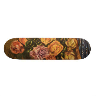 Renoir s Roses in Front of a Blue Curtain 1908 Skate Decks