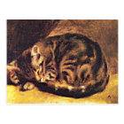 Renoir: Sleeping Cat Postcard