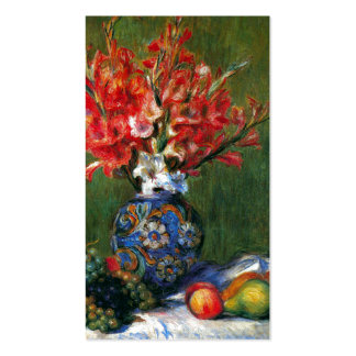 Renoir still life Flowers and Fruit art painting Pack Of Standard Business Cards