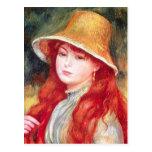 Renoir Straw Hat Post Card