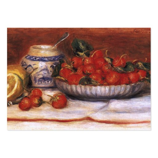 Renoir: Strawberries Business Card Templates